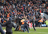 09/03/2019 Sky Bet League 1 Blackpool v Southend United<br /> <br /> Ben Heneghan and fans congratulate Liam Feeney