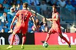 Real Sociedad's Xabi Prieto (r) and Sergio Canales during La Liga match. August 19,2017. (ALTERPHOTOS/Acero)