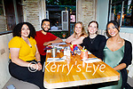 Enjoying the evening in Molly J's on Thursday, l to r: Joy Sarofim, Allie Almunin, Siabhdh Murphy, Kelsey McCarthy and Hila Jazayeri.