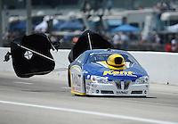 Apr. 28, 2012; Baytown, TX, USA: NHRA pro stock driver Rodger Brogdon during qualifying for the Spring Nationals at Royal Purple Raceway. Mandatory Credit: Mark J. Rebilas-