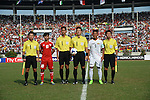 United Arab Emirates vs Myanmar during the 2014 AFC U19 Mens Championship Quarter-finals match on October 17, 2014 at the Thuwunna Stadium in  Yangon, Myanmar. Photo by World Sport Group
