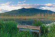 Pondicherry Wildlife Refuge - Cherry Mountain from Moorhen Marsh along the Presidential Range Rail Trail / Cohos Trail in Jefferson, New Hampshire.