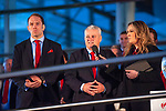 Wales's national rugby team who won both the Six Nations and the Grand Slam are welcomed to the National Assembly for Wales Senedd building in Cardiff Bay today for a public celebration event. Coach Warren Gatland and Captain Alun Wyn Jones are interviewed during the event.