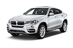 2015 BMW X6 sDrive35i 5 Door SUV Angular Front stock photos of front three quarter view