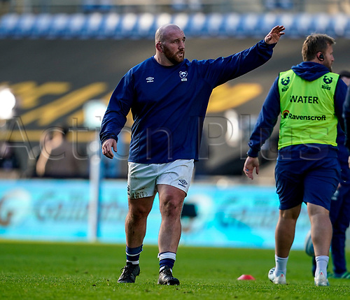 22nd November 2020; Ricoh Arena, Coventry, West Midlands, England; English Premiership Rugby, Wasps versus Bristol Bears; Yann Thomas of Bristol warms-up prior to the match