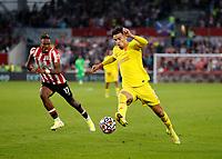 25th September 2021; Brentford Community Stadium, London, England; Premier League Football Brentford versus Liverpool; Curtis Jones of Liverpool