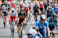 Belgian National Champion Wout van Aert (BEL/Jumbo Visma) finishes in the bunch <br /> <br /> Stage 4 from Redon to Fougiéres (150.4km)<br /> 108th Tour de France 2021 (2.UWT)<br /> <br /> ©kramon
