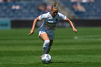 BRIDGEVIEW, IL - JUNE 5: Merritt Mathias #11 of the North Carolina Courage dribbles the ball during a game between North Carolina Courage and Chicago Red Stars at SeatGeek Stadium on June 5, 2021 in Bridgeview, Illinois.