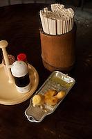 Condiments at Yamauchi.