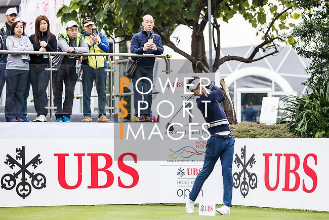 Jinho Choi of South Korea tees off during the day three of UBS Hong Kong Open 2017 at the Hong Kong Golf Club on 25 November 2017, in Hong Kong, Hong Kong. Photo by Yu Chun Christopher Wong / Power Sport Images