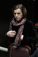 Il Ministro del Lavoro Elsa Fornero .Roma 25/01/2012 Voto alla Camera dei Deputati per la mozione unitaria sulla politica europea dell'Italia.Foto Insidefoto Serena Cremaschi
