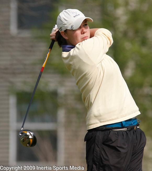 SIOUX FALLS, SD - MAY 4, 2009 :  Jacquelyn Hauser of Concordia-St. Paul tees off on the 9th hole at Westward Ho Monday during the 2009 NCAA Division II Super Regional Three Women's Golf Championships. (Photo by Dick Carlson/Inertia)