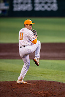Tennessee Volunteers starting pitcher Will Heflin (11) delivers a pitch against the LSU Tigers on Robert M. Lindsay Field at Lindsey Nelson Stadium on March 27, 2021, in Knoxville, Tennessee. (Danny Parker/Four Seam Images)