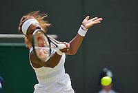 27-06-13, England, London,  AELTC, Wimbledon, Tennis, Wimbledon 2013, Day four, Serena Williams (USA)<br /> <br /> <br /> <br /> Photo: Henk Koster