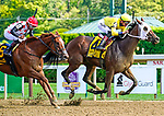 September 04, 2021: Cilla #4, ridden by jockey Tyler Gaffalione outlast Souper Sensational and jockey Ricardo Santana Jr. to win the Grade 2 Prioress Stakes at Saratoga Race Course in Saratoga Springs, N.Y. on September 4th, 2021. Dan Heary/Eclipse Sportswire/CSM
