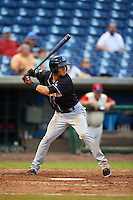 Jupiter Hammerheads outfielder Yefri Perez (12) at bat during the first game of a doubleheader against the Clearwater Threshers on July 25, 2015 at Bright House Field in Clearwater, Florida.  Jupiter defeated Clearwater 8-5.  (Mike Janes/Four Seam Images)