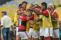 3rd October 2021; Maracana Stadium, Rio de Janeiro, Brazil; Brazilian Serie A, Flamengo versus Athletico Paranaense; Andreas Pereira of Flamengo celebrates his goal in the 49th minute 3-0
