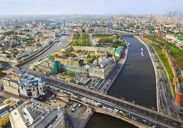 Moscow. Russia. Aerial view