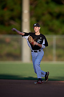Emilien Pitre during the WWBA World Championship at the Roger Dean Complex on October 18, 2018 in Jupiter, Florida.  Emilien Pitre is a shortstop from Repentigny, Quebec who attends Felix-Leclerc Secondary School.  (Mike Janes/Four Seam Images)