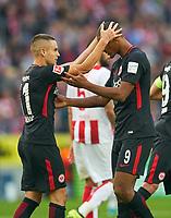 Sebastien HALLER, FRA  0-1 celebrates with Mijat GACINOVIC , FRA 11 <br /> 1.FC KOELN - EINTRACHT FRANKFURT 0-1<br /> Football 1. Bundesliga , Koeln, am 20.09.2017, 5.Match Day, Saison 2017/2018, 1.Liga, 1.Bundesliga,<br />  *** Local Caption *** © pixathlon +++ tel. +49 - (040) - 22 63 02 60 - mail: info@pixathlon.de