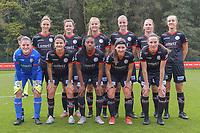 defender Pauline Windels (5 Zulte-Waregem) , midfielder Summer Rogiers (8 Zulte-Waregem) , forward Corina Luijks (14 Zulte-Waregem) , midfielder Lotte De Wilde (19 Zulte-Waregem) , midfielder Laura Vervacke (20 Zulte-Waregem) , defender Ella Vierendeels (4 Zulte-Waregem) and<br /> goalkeeper Ianthe Meersschaert (31 Zulte-Waregem) , midfielder Amber De Priester (6 Zulte-Waregem) , forward Esther Buabadi (24 Zulte-Waregem) , defender Liesa Capiau (15 Zulte-Waregem) , defender Noa Delhaye (12 Zulte-Waregem) pictured during a female soccer game between Standard Femina de Liege and Dames SV Zulte Waregem on the fifth matchday of the 2020 - 2021 season of Belgian Scooore Womens Super League , saturday 17 th of October 2020  in Angleur , Belgium . PHOTO SPORTPIX.BE | SPP | STIJN AUDOOREN