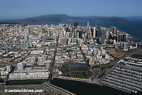 aerial photograph AT&T Giants baseball park south beach marina San Francisco California