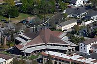 aerial photograph of St. John the Baptist Roman Catholic church, Napa, California