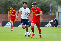 3rd September 2021; Newport, Wales:  Cian Ashford of Wales runs with the ball during the U18 International Friendly match between Wales and England at Newport Stadium in Newport, Wales.