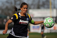 Shannon Boxx (7) of the Los Angeles Sol. The Los Angeles Sol defeated Sky Blue FC 2-0 during a Women's Professional Soccer match at TD Bank Ballpark in Bridgewater, NJ, on April 5, 2009. Photo by Howard C. Smith/isiphotos.com