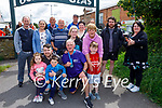 Jack Moriarty (kneeling front) with his family after completing a marathon fundraiser for Downs Syndrome Kerry on Sunday.