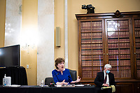 United States Senator Susan Collins (Republican of Maine), speaks during a US Senate Small Business and Entrepreneurship Committee hearing in Washington, D.C., U.S., on Wednesday, June 10, 2020. The hearing examines the government's virus relief package that offers emergency assistance to small businesses. <br /> Credit: Al Drago / Pool via CNP/AdMedia