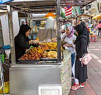 Street Food Vendor near Central Market, Kuala Lumpur, Malaysia.