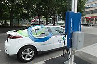 Circuit électrique des bornes de recharge
