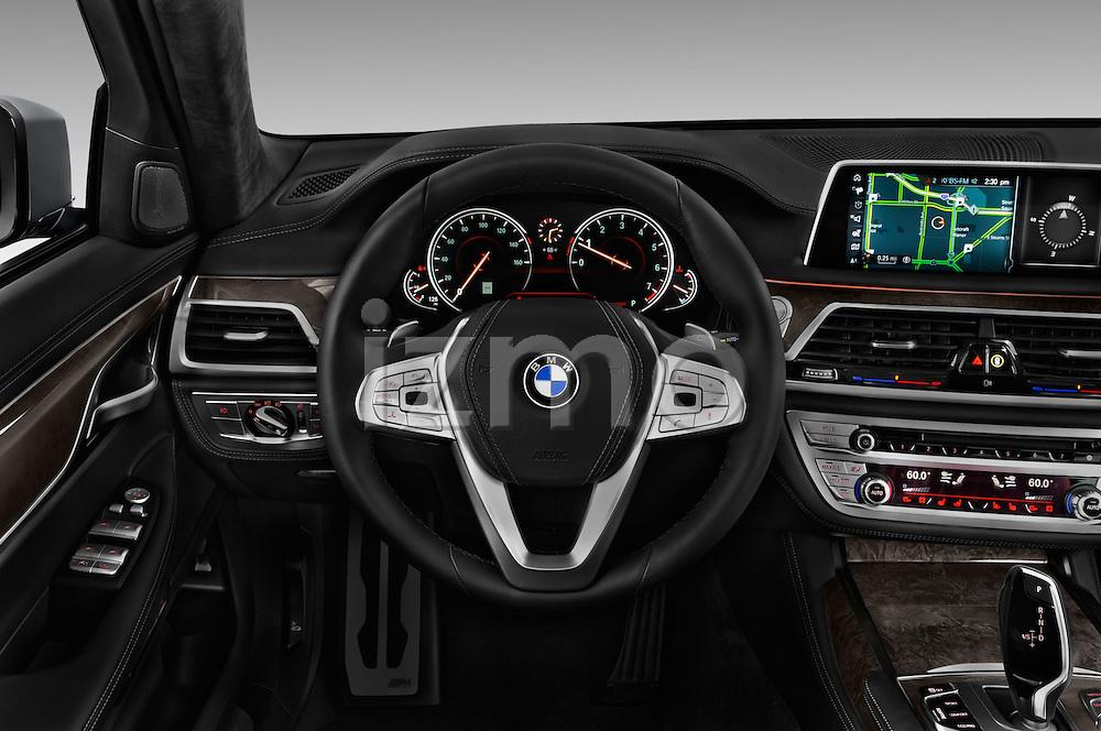 Car pictures of steering wheel view of a 2016 BMW 7 Series M Sport 4 Door Sedan Steering Wheel