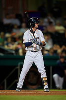 Bowling Green Hot Rods first baseman Justin Bridgman (3) at bat during a game against the Peoria Chiefs on September 15, 2018 at Bowling Green Ballpark in Bowling Green, Kentucky.  Bowling Green defeated Peoria 6-1.  (Mike Janes/Four Seam Images)
