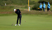 140719 | The 148th Open - Sunday Practice<br /> <br /> Tiger Woods on the 1st fairway during practice for the 148th Open Championship at Royal Portrush Golf Club, County Antrim, Northern Ireland. Photo by John Dickson - DICKSONDIGITAL