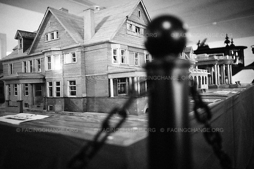 Lima, Ohio.March 2012..Allen County Museum exhibit showing models of historic Victorian houses, many of which have been torn down in Lima.