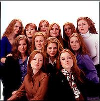 Group of red haired women