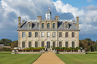 BNPS.co.uk (01202) 558833<br /> Pic: NT/JamesDobson/BNPS<br /> <br /> View of the 17th-century mansion from the south lawn at Kingston Lacy, Dorset<br /> <br /> Slow and steady wins the race...<br /> <br /> A set of bronze tortoises stolen from a country mansion have finally been returned... 29 years later.<br /> <br /> The bronze sculptures based on the wealthy 19th century owner's pet were stolen from Kingston Lacy in Dorset in 1992 and reported to the police but never found until a savvy historian spotted one up for auction recently.<br /> <br /> Following the trail, the National Trust traced the tortoise to an antiques dealer, who had acquired the set from a scrap metal dealer, completely unaware of their history.<br /> <br /> The four missing sculptures have finally been returned to Kingston Lacy and gone on display.
