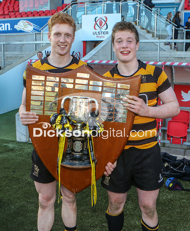 SCF2016 - RBAI vs Campbell College | Thursday 17th March 2016<br /> <br /> Charlie Fryers and David Whitten after the Ulster Schools Cup Final between RBAI and Campbell College at Kingspan Stadium, Ravenhill Park, Belfast, Northern Ireland. Photo credit: John Dickson / DICKSONDIGITAL