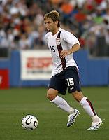 Bobby Convey dribbles the ball. USA (0) vs Morocco (1), May 23, 2006, at The Coliseum in Nashville, Tenn.