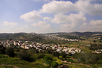 Israel, Jerusalem Mountains, Arab village Ein Rafa as seen from Tzuba.
