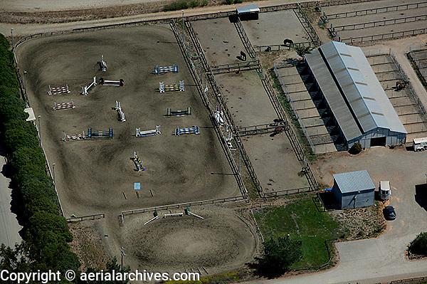 aerial photograph equestrian jumping course Sonoma County, California