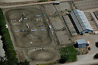 aerial photograph equestrian jumping course Sonoma County, California