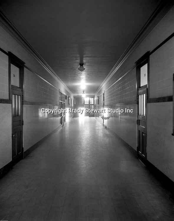 Pittsburgh PA:   A hallway in a Duquesne University building.<br /> Brady Stewart was hired to photography the campus, classrooms and offices for a publication to increase enrollment at the Catholic University.