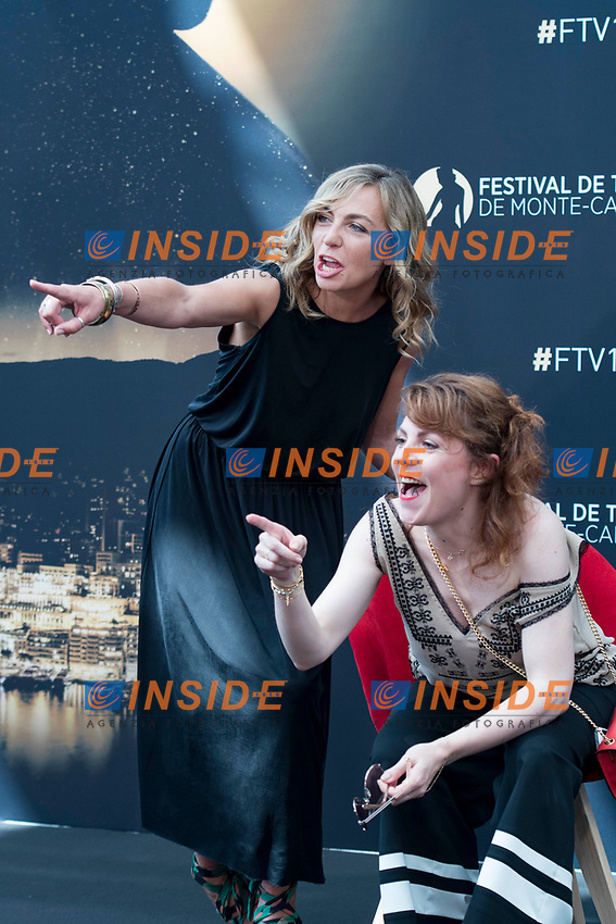Amelie Etasse (Scenes de menages) - Anne Elisabeth Blateau (Scenes de menages) Monaco - 17/06/2017<br /> 57 festival TV Monte Carlo <br /> Foto Norbert Scanella / Panoramic / Insidefoto