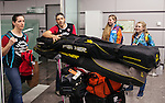 Robbi Weldon and Brian McKeever, Sochi 2014.<br /> Team Canada arrives at the airport in Sochi for the Sochi 2014 Paralympic Winter // Équipe Canada arrive à l'aéroport de Sotchi pour Sochi 2014 Jeux paralympiques d'hiver. 04/03/2014.