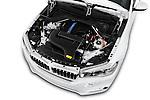 Car Stock 2018 BMW X5 xDrive40e 5 Door SUV Engine  high angle detail view