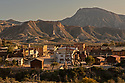 Spain - Andalusia - An overview of Oasys MinHollywood movie set immersed in the Tabernas Desert.