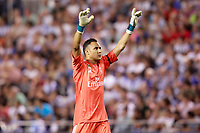 Real Madrid's Keylor Navas celebrates goal during La Liga match. August 20,2017.  *** Local Caption *** © pixathlon +++ tel. +49 - (040) - 22 63 02 60 - mail: info@pixathlon.de
